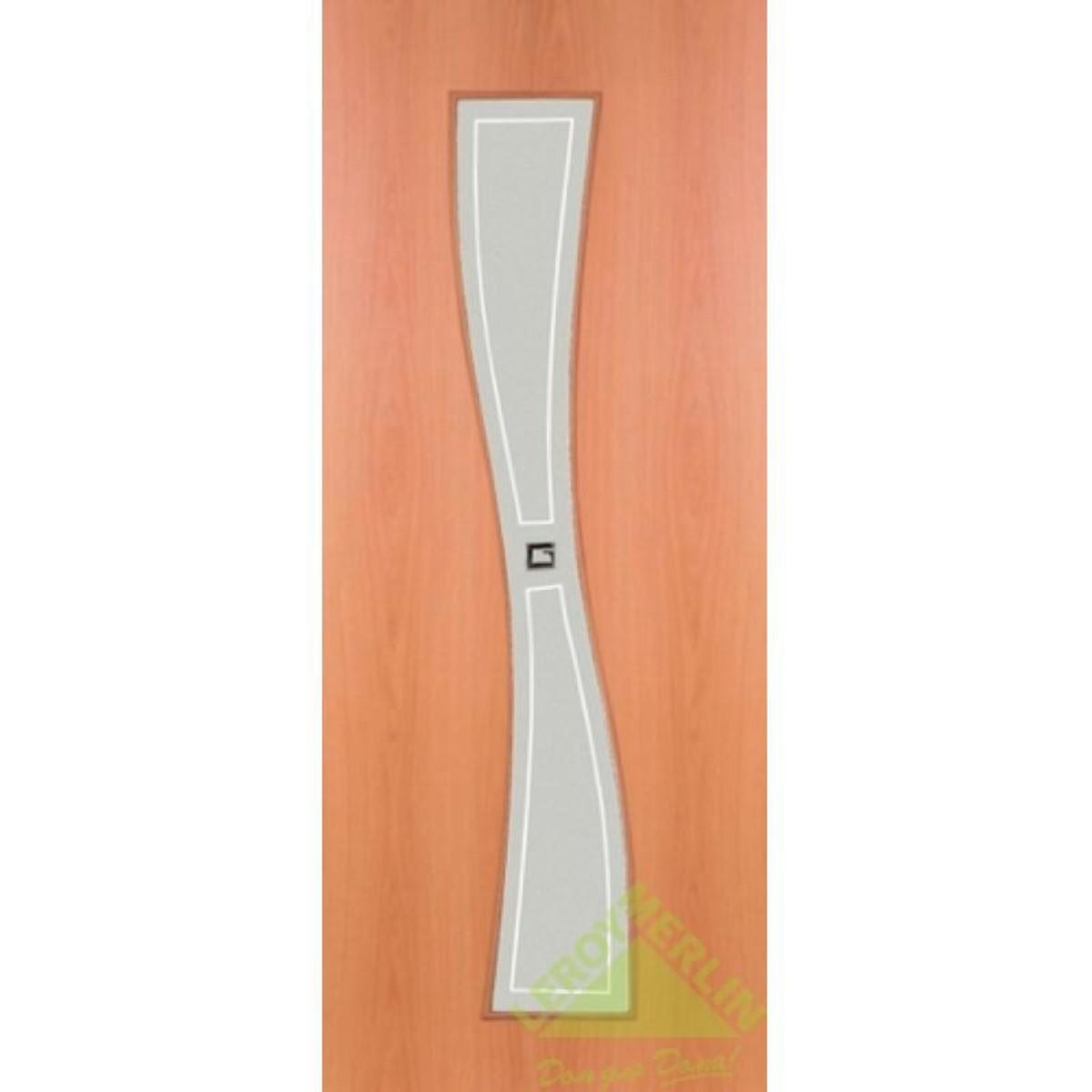 Дверь межкомнатная остеклённая Сезия 600x2000 мм ламинация миланский орех