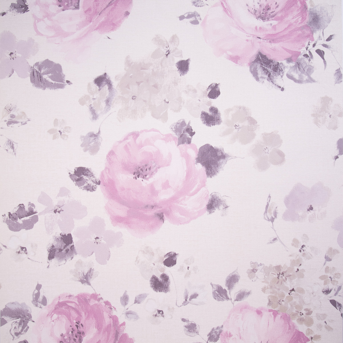 Обои на флизелиновой основе 0.53х10 м розы цвет сиреневый Ra 448832