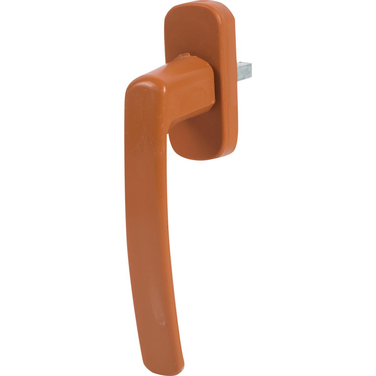 Ручка оконная для ПВХ цвет красно-коричневый