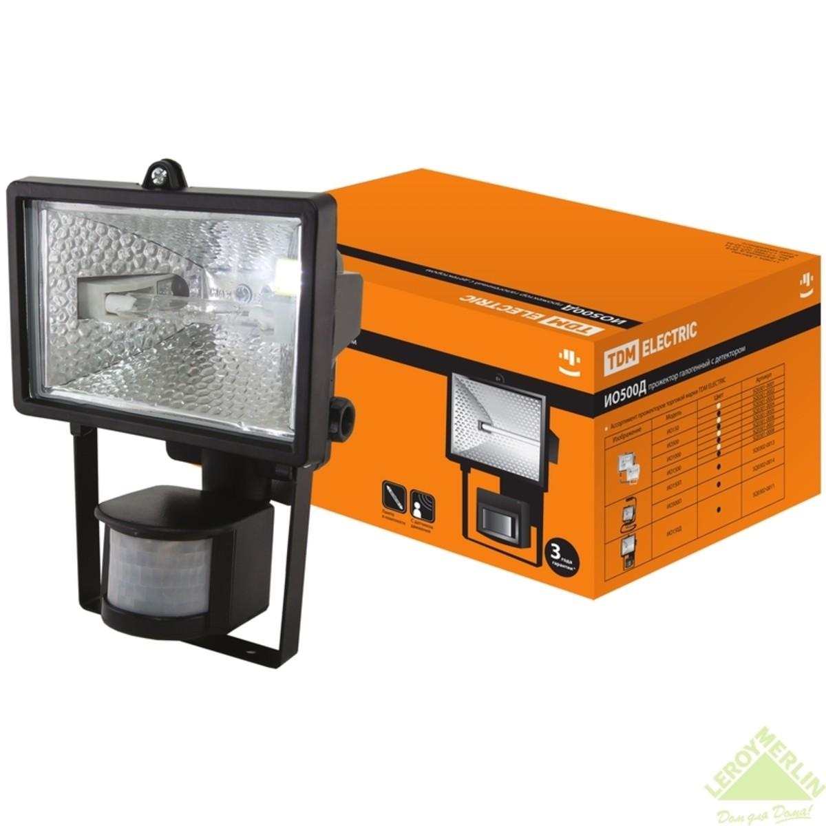 Прожектор галогеновый с детектором TDM ИО500W IP54