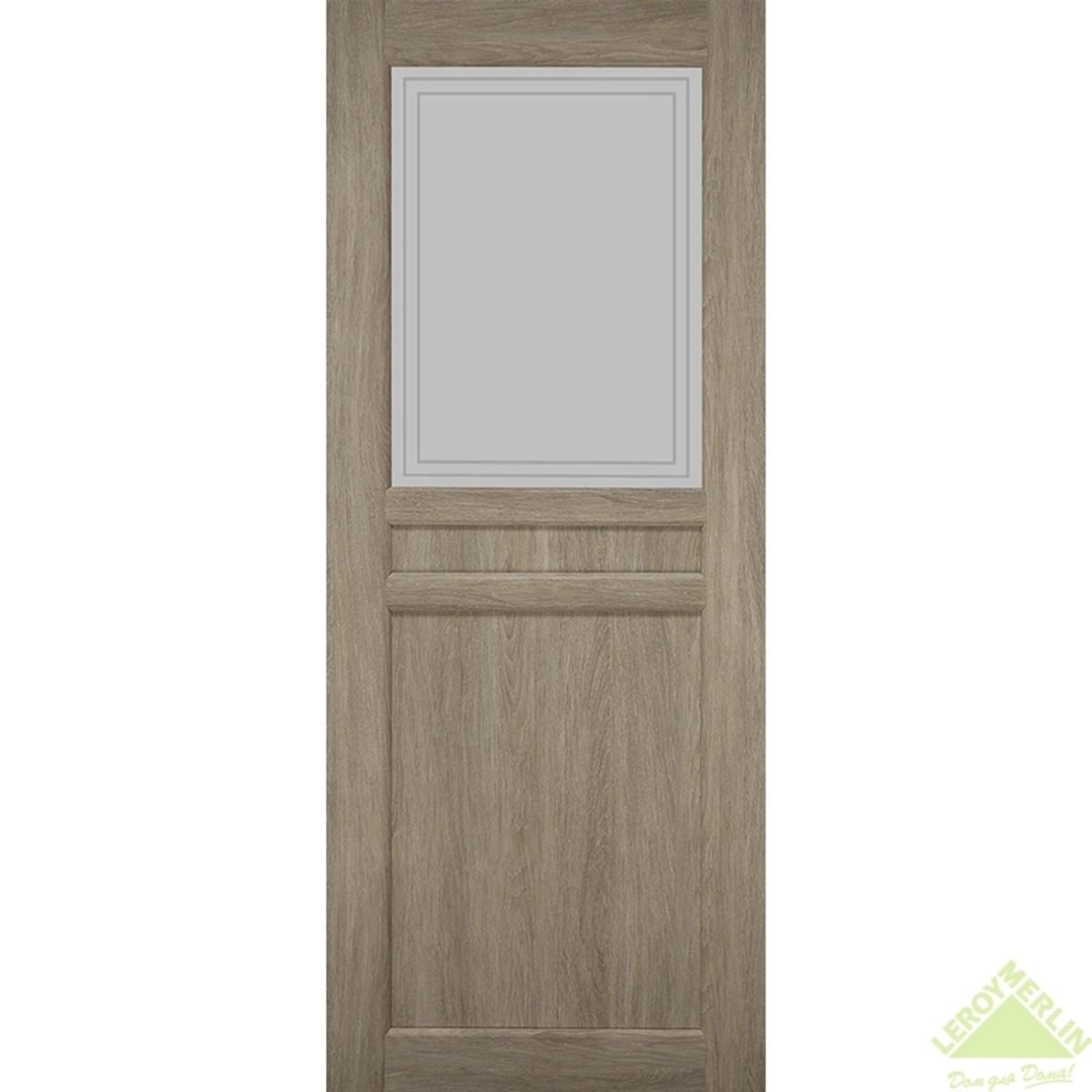 Дверное полотно остеклённое Элегия CPL 900x2000 мм ясень седой
