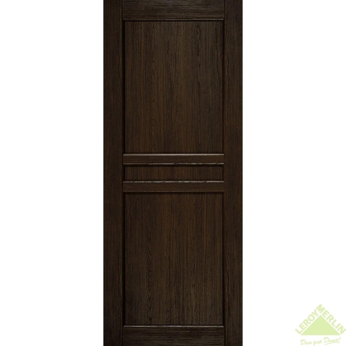 Дверное полотно глухое Элегия CPL 900x2000 мм ясень шоколадный