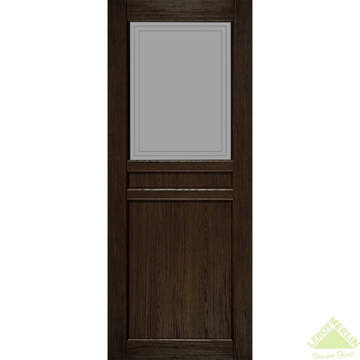 Дверное полотно остеклённое Элегия CPL 900x2000 мм ясень шоколадный