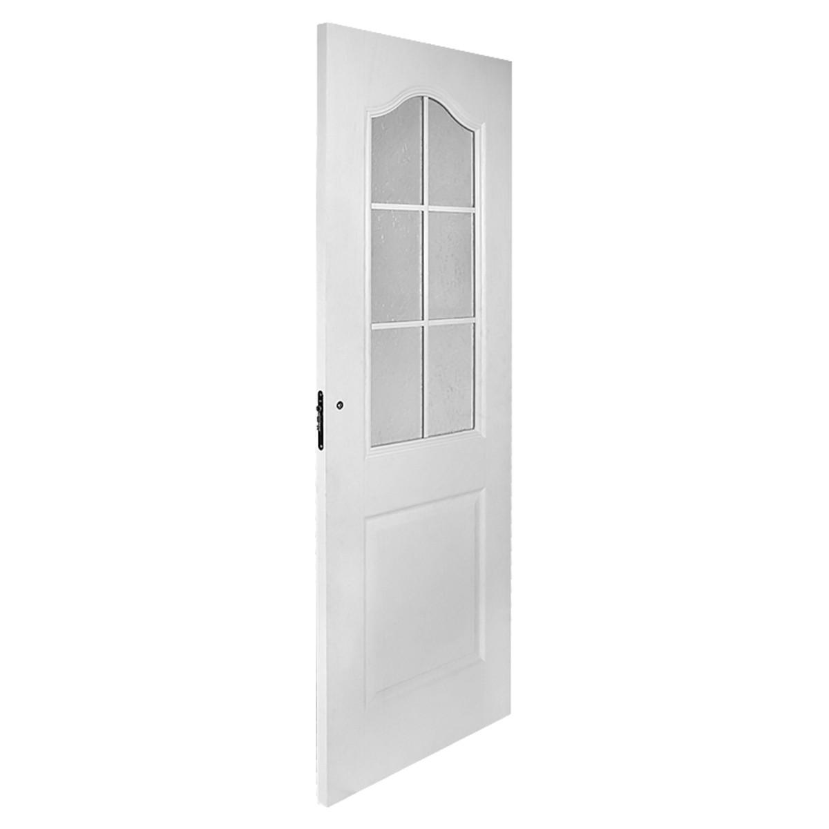 Дверь Межкомнатная Остеклённая Капричеза 700x2000 Ламинация Белый