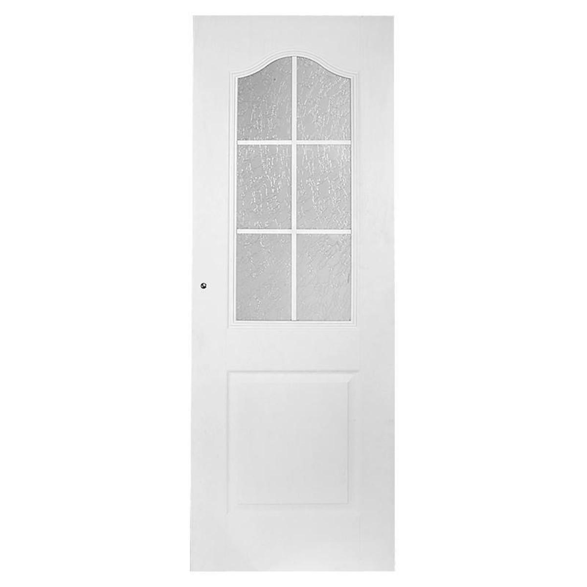 Дверь Межкомнатная Остеклённая Капричеза 800x2000 Ламинация Белый