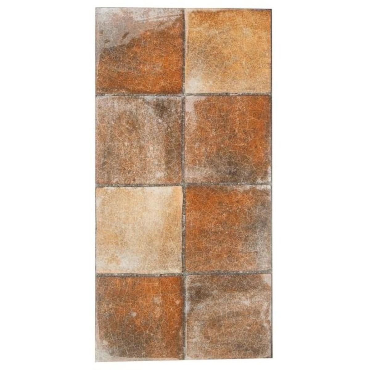 Плитка настенная Лофт 15-740 20х40 см 1.28 м2 цвет коричневый