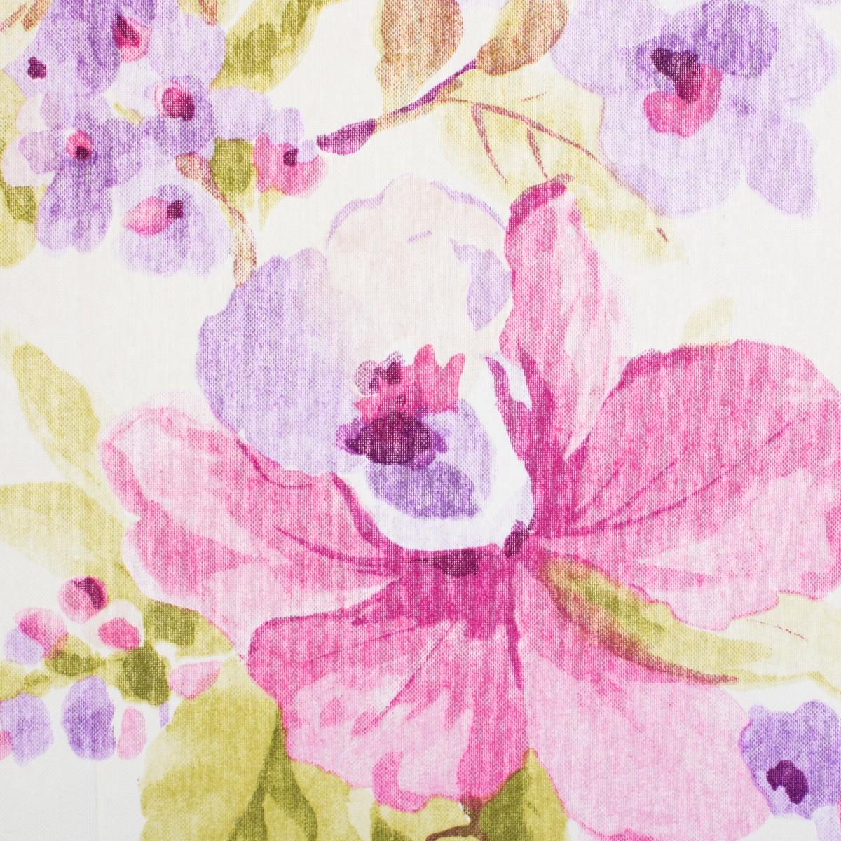 Ткань Карнавал 1 п/м 280 см сине-фиолетовые цветы
