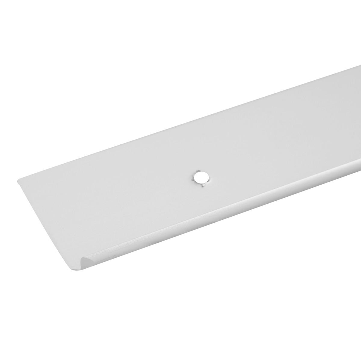 Планка для столешницы торцевая под 3D кромку 0.4 см цвет матовый хром