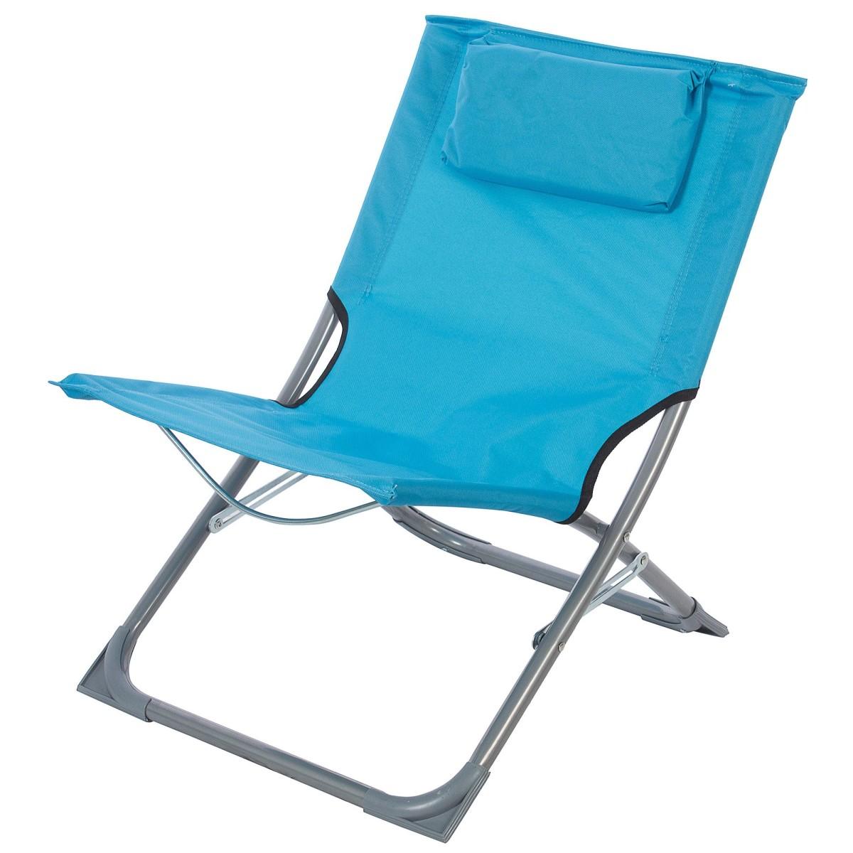 Стул пляжный синий 400x610x400 мм металл/ткань
