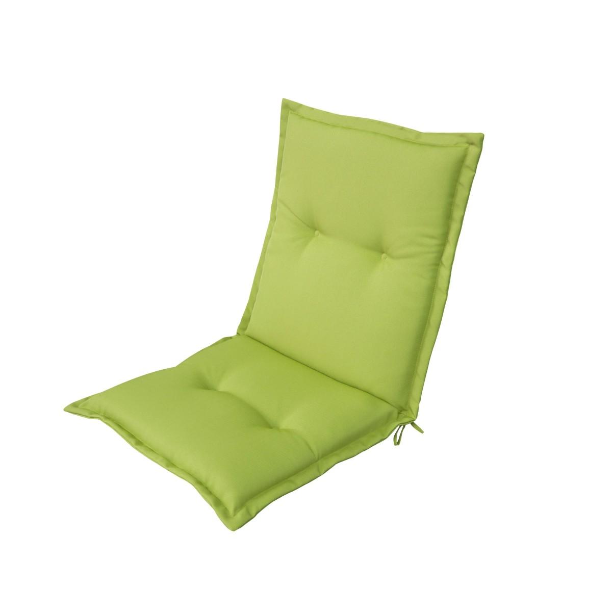 Подушка для стула зеленая 92х48х5 см полиэстер