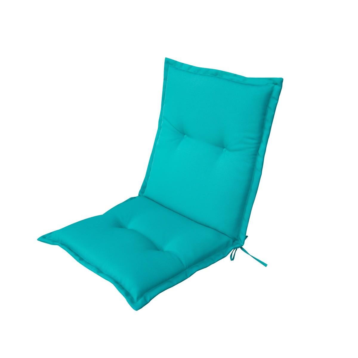 Подушка для стула голубая 92х42х5 см полиэстер