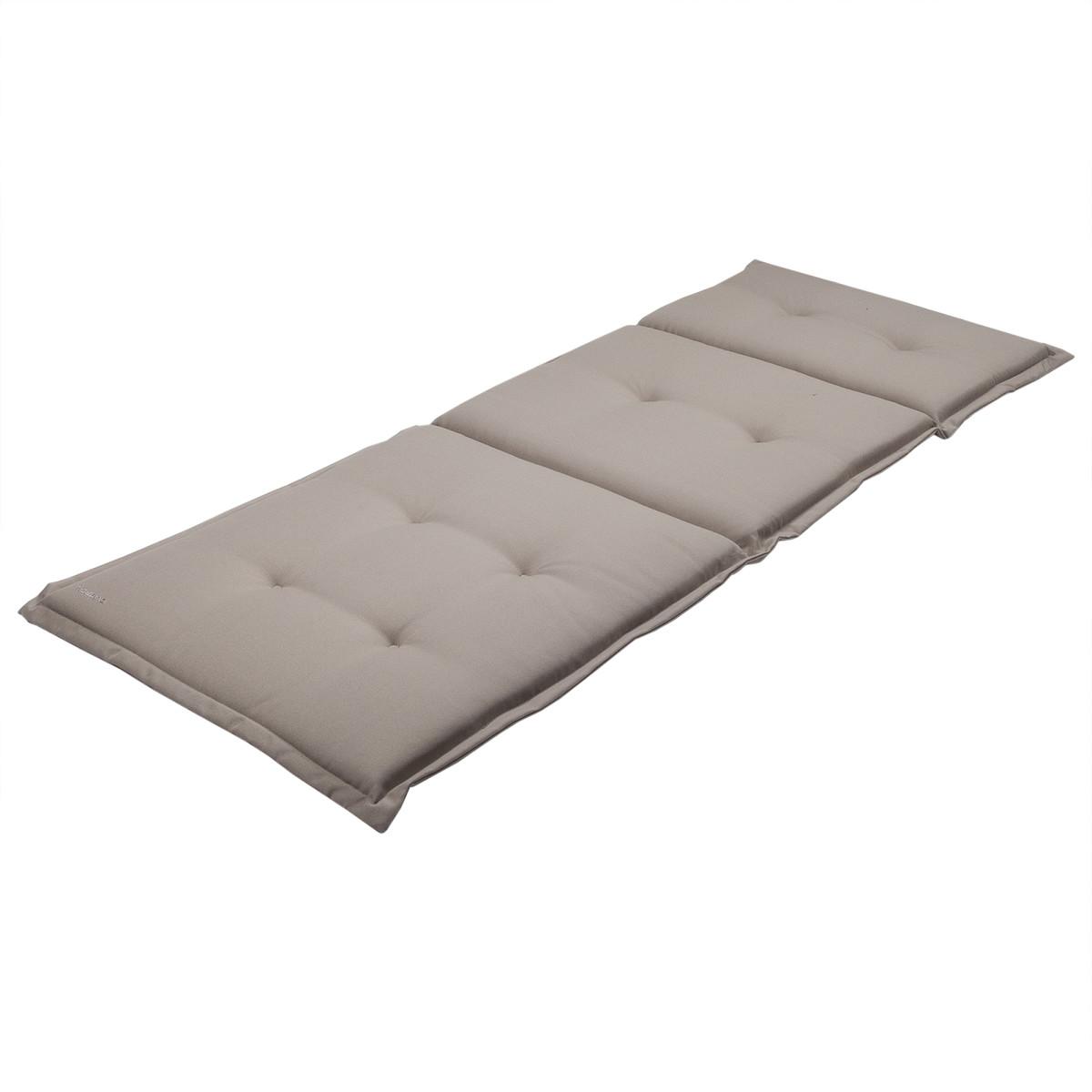Подушка для шезлонга серая 165х65х5 см полиэстер