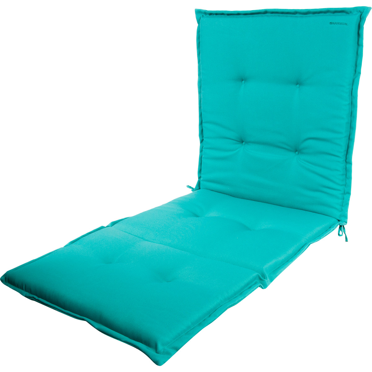 Подушка для шезлонга голубая 165х65х5 см полиэстер