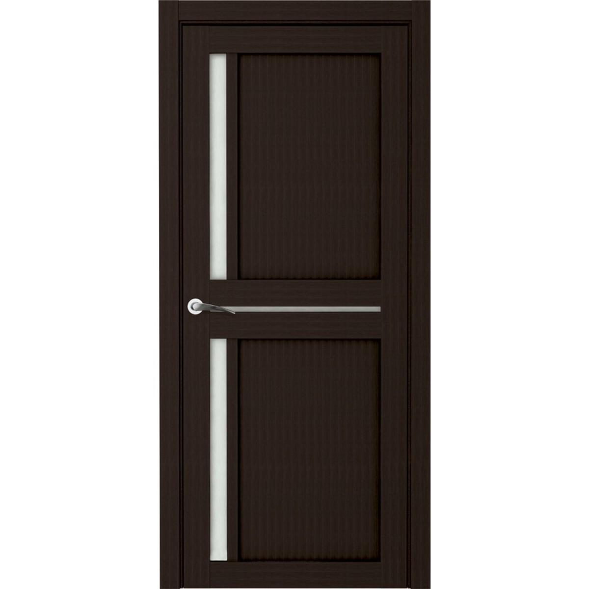 Дверь межкомнатная остеклённая Вита 70x200 см ламинация цвет мокко с фурнитурой