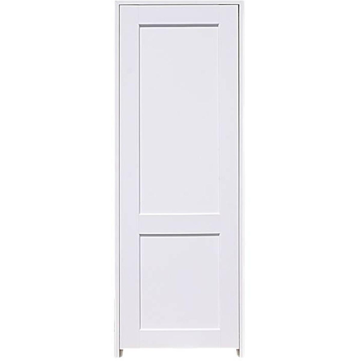 Блок дверной глухой с замком и петлями в комплекте Акваплюс 80x200 см ПВХ