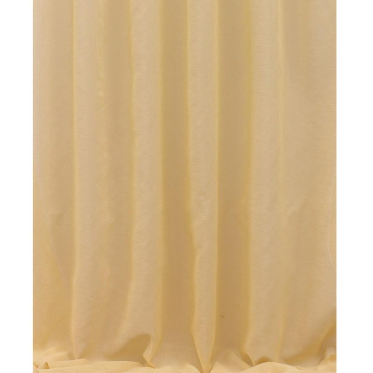 Тюль 1 п/м 280 см под лен цвет персиковый