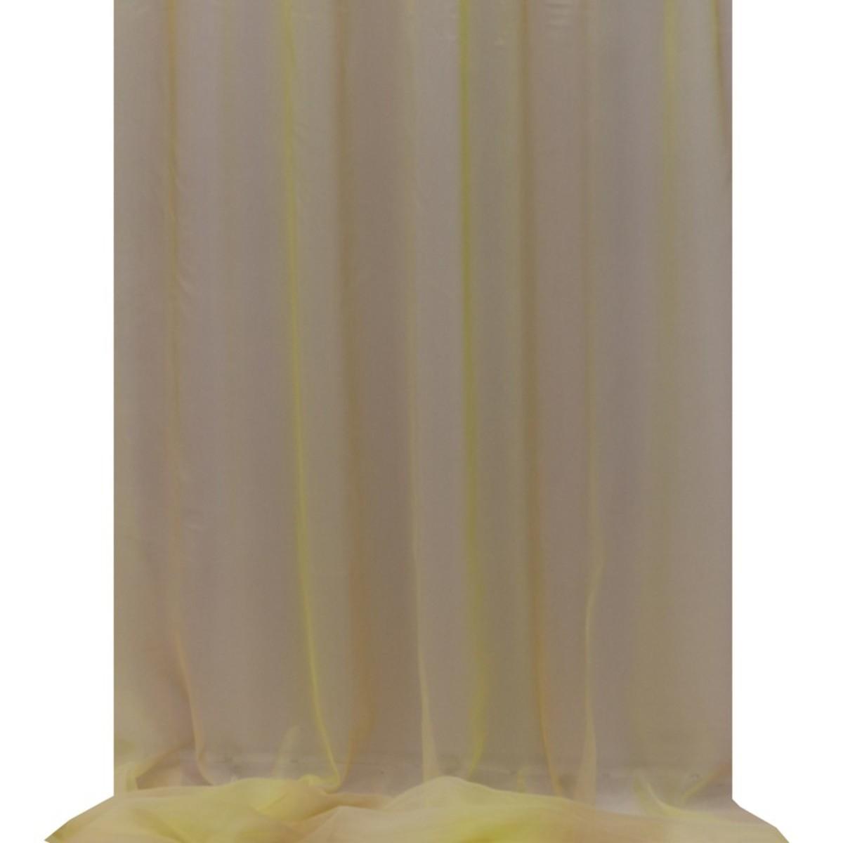 Тюль 1 п/м 280 см полуорганза цвет желто-бежевый