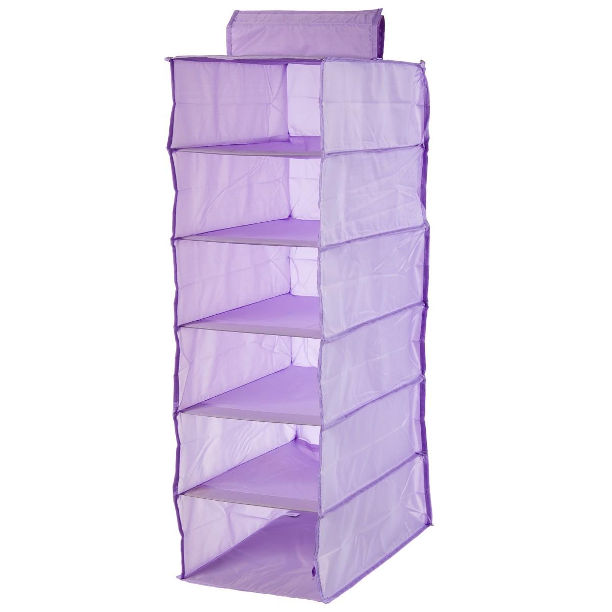 Органайзер Подвесной Spaceo 6 Полок 30Х40Х90 Цвет Фиолетовый