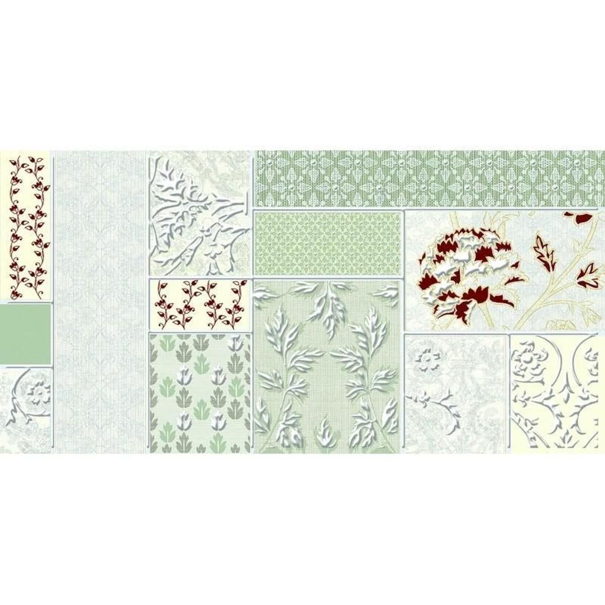 Декор «Онде Олива Коллаж» 40.5х20.1 см цвет зеленый