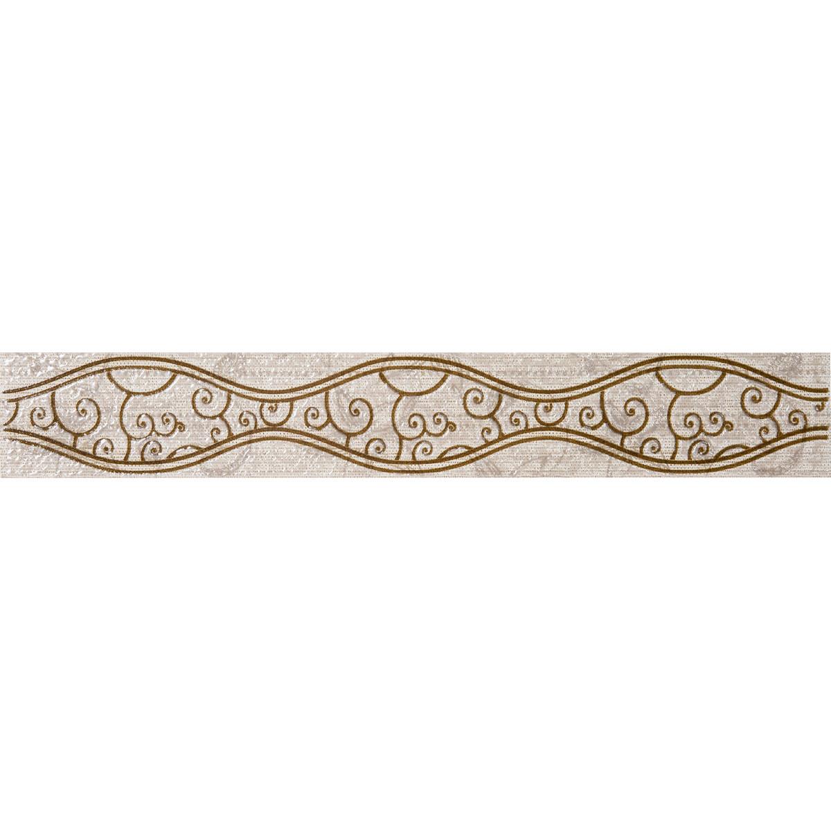 Бордюр «Линеа Шираз» 40.5х6.2 см цвет бежевый