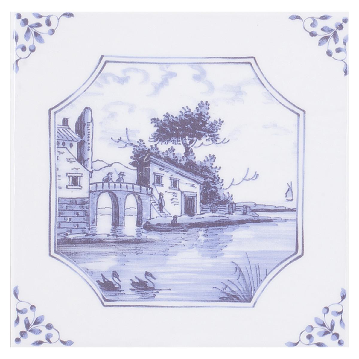Декор Английский Делфт Замок 20х20 см