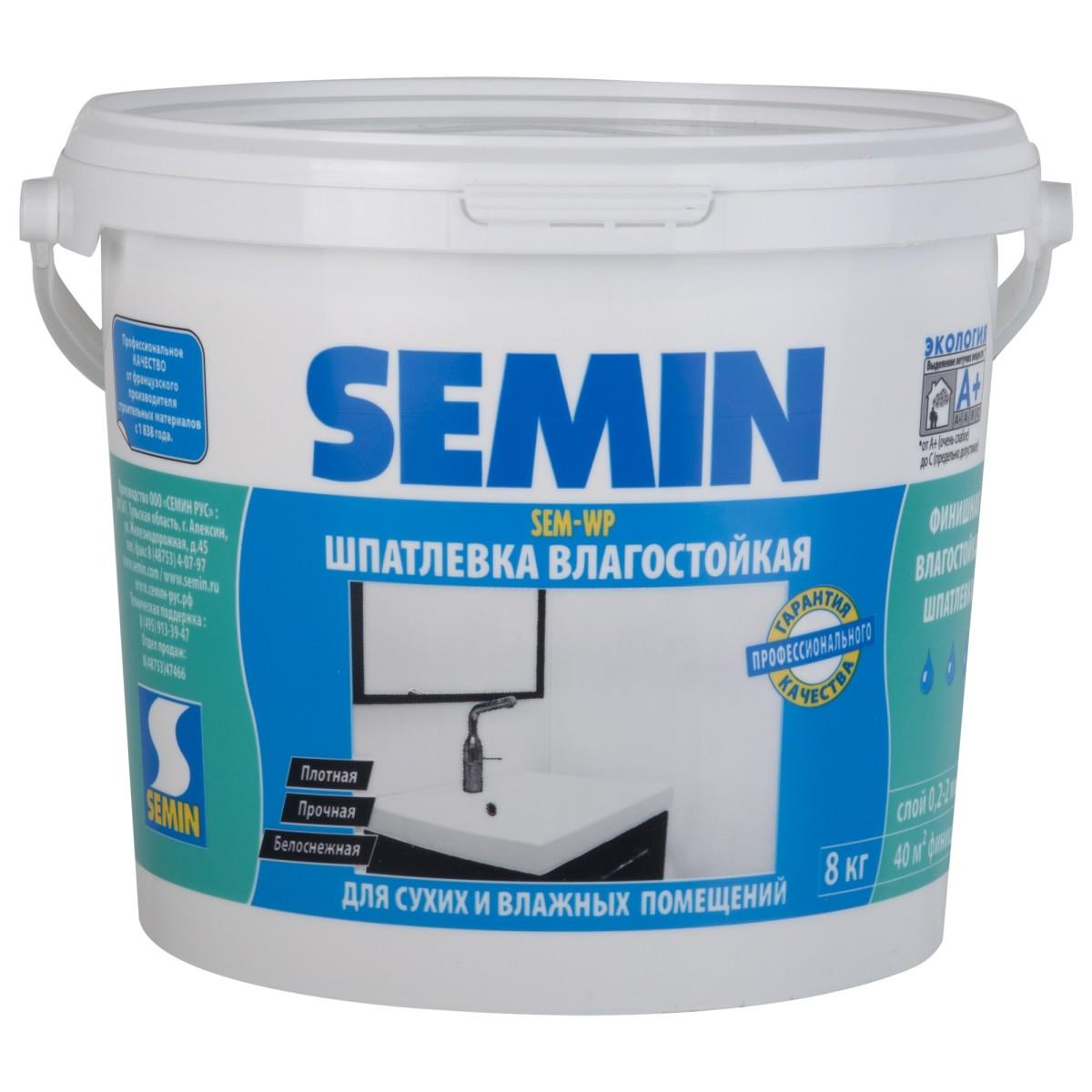 Шпаклевка полимерная финишная Semin SEM-WP 8 кг