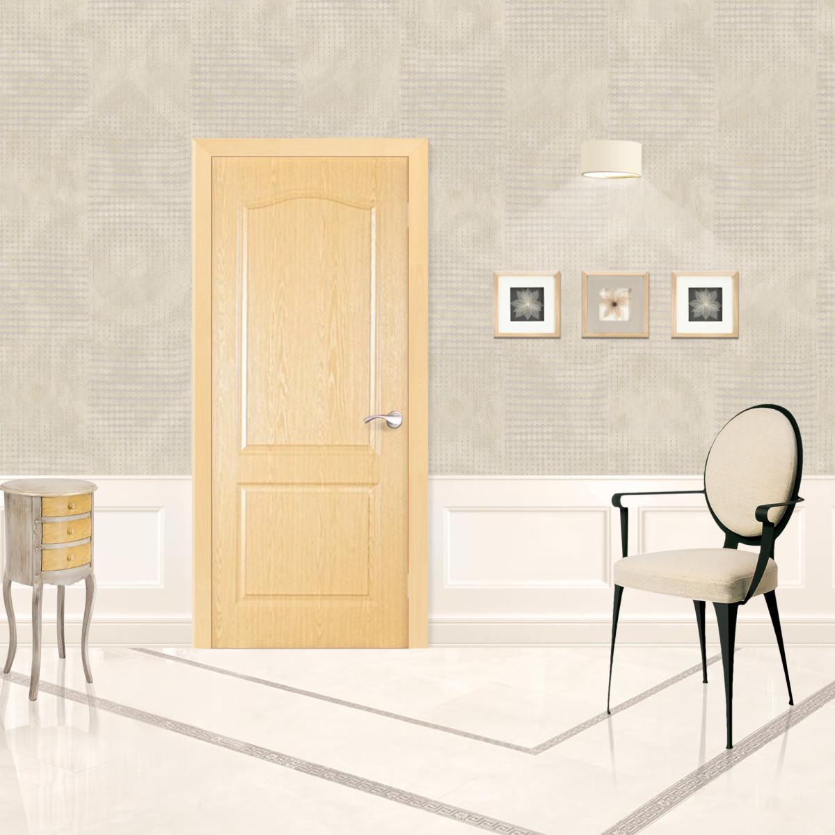 Дверь Межкомнатная Глухая Палитра 60x200 Ламинация Цвет Дуб