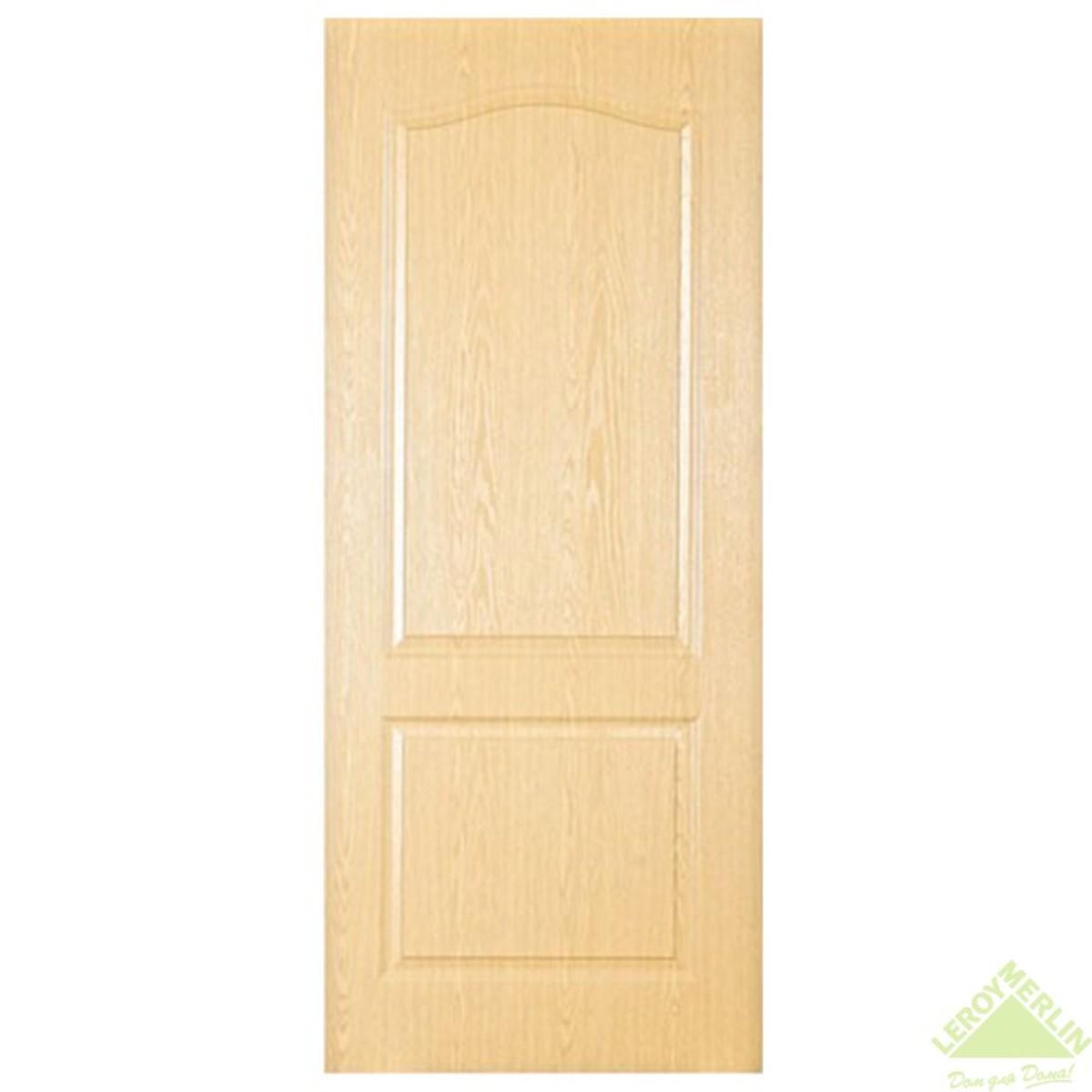 Дверь межкомнатная глухая Палитра 80x200 см ламинация цвет дуб