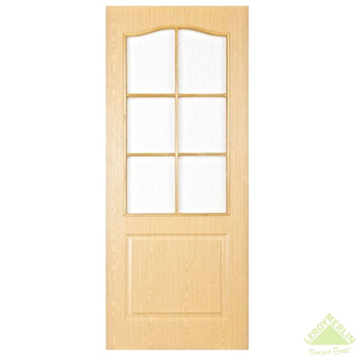 Дверь Межкомнатная Остеклённая Палитра 80x200 Ламинация Цвет Дуб