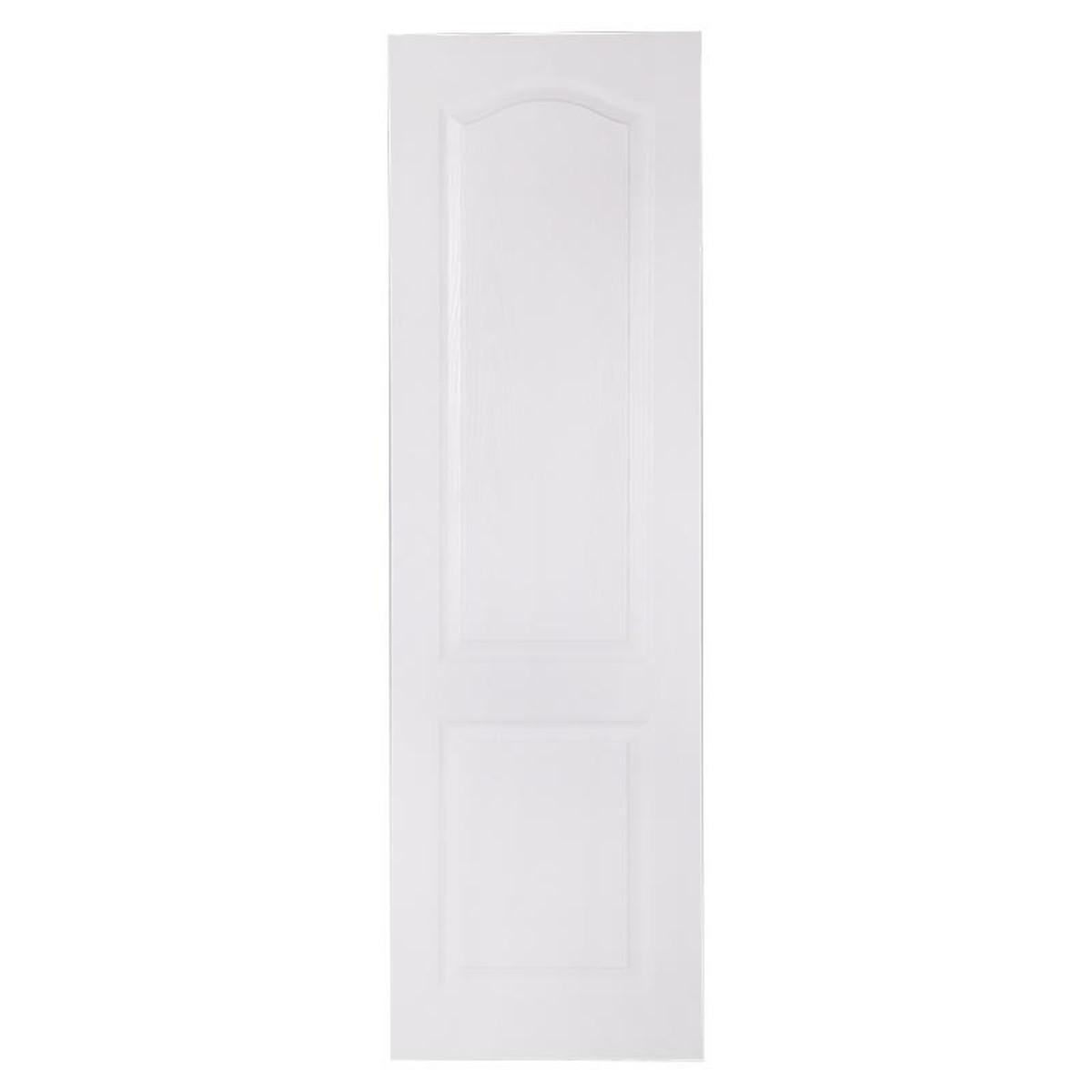 Дверь межкомнатная глухая Палитра 80x200 см ламинация цвет белый