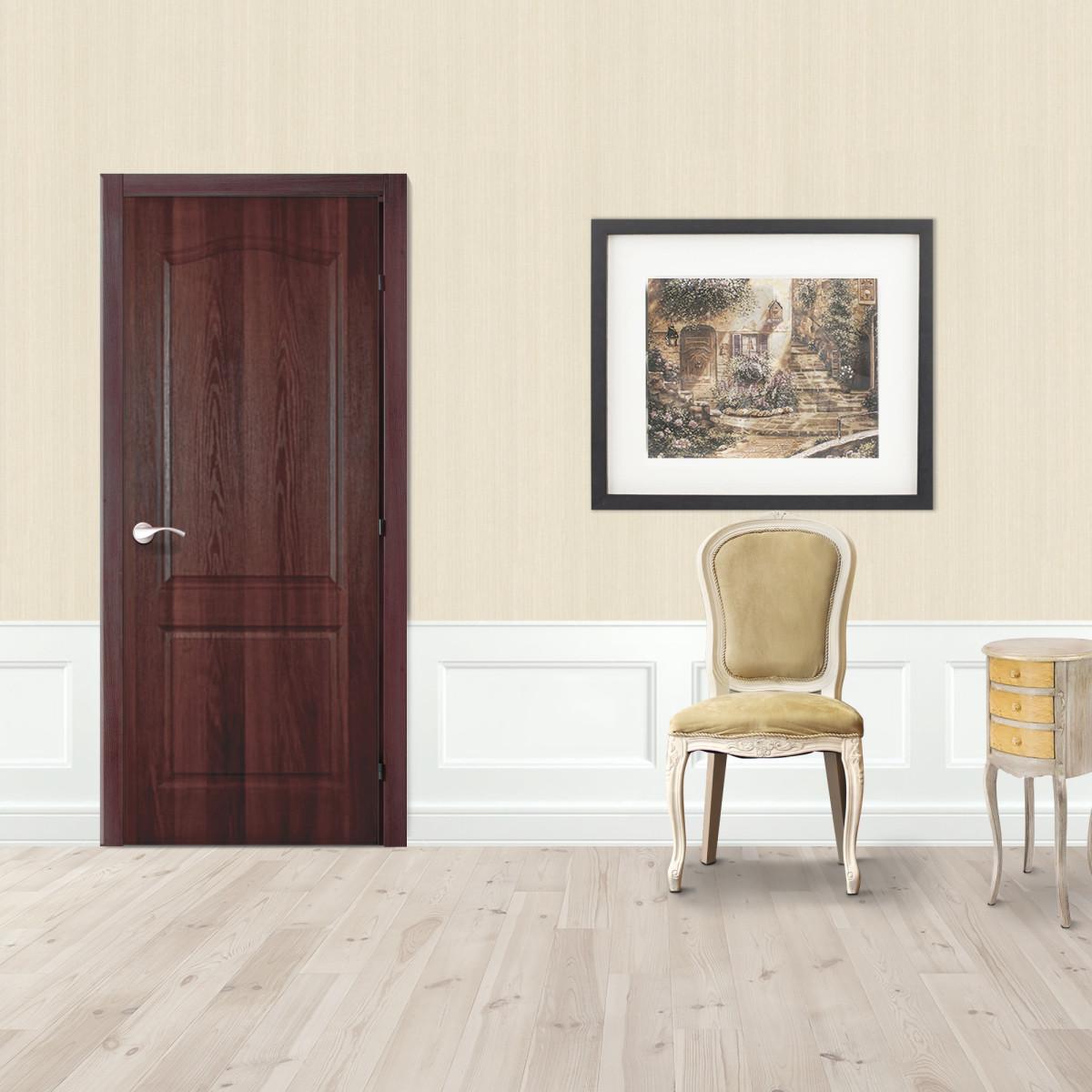 Дверь Межкомнатная Глухая Палитра 60x200 Ламинация Цвет Итальянский Орех