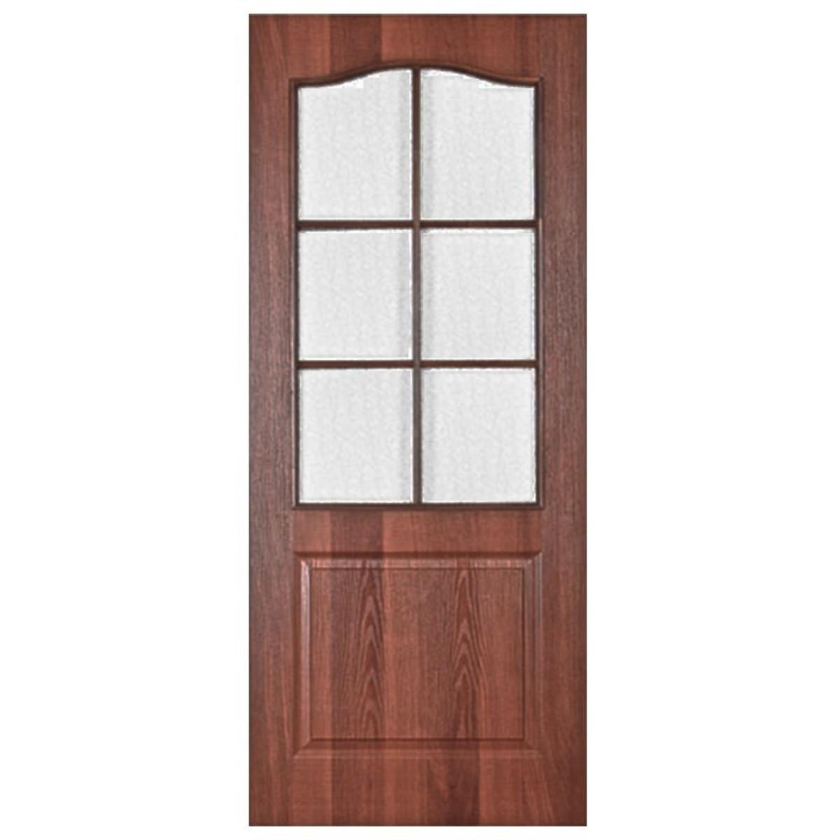 Дверь межкомнатная остеклённая Палитра 80x200 см ламинация цвет итальянский орех