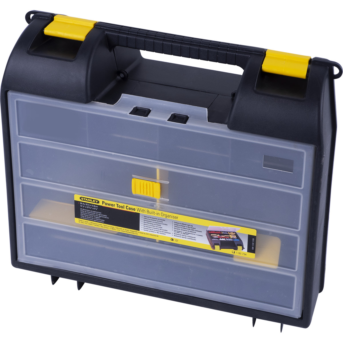 Кейс для электроинструмента Stanley 359х325х136 мм пластик цвет чёрный/жёлтый