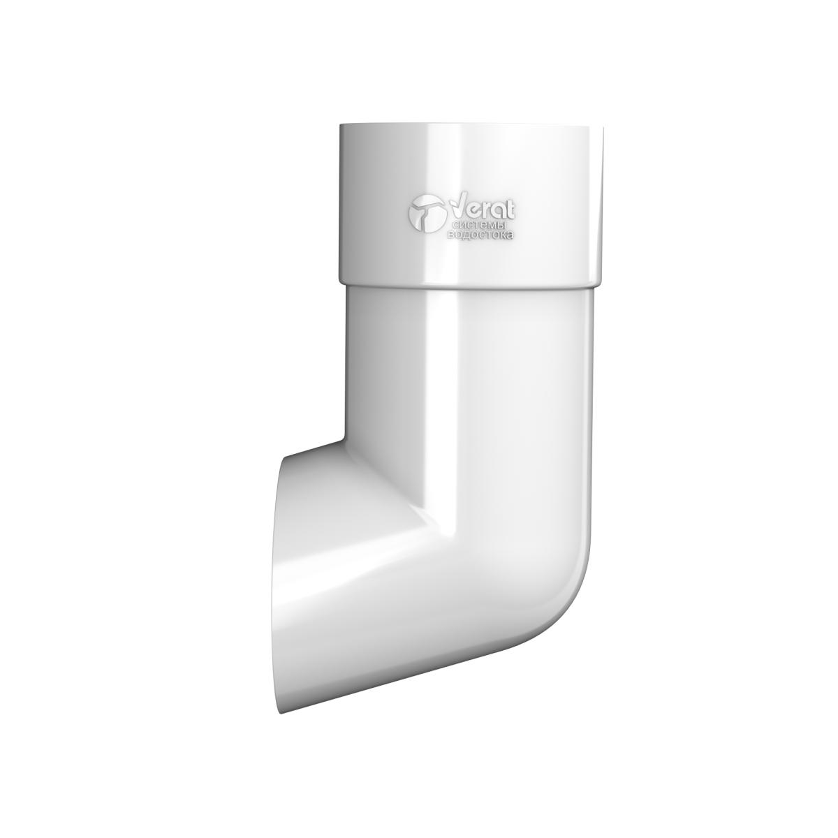Отвод для трубы 82 мм цвет белый