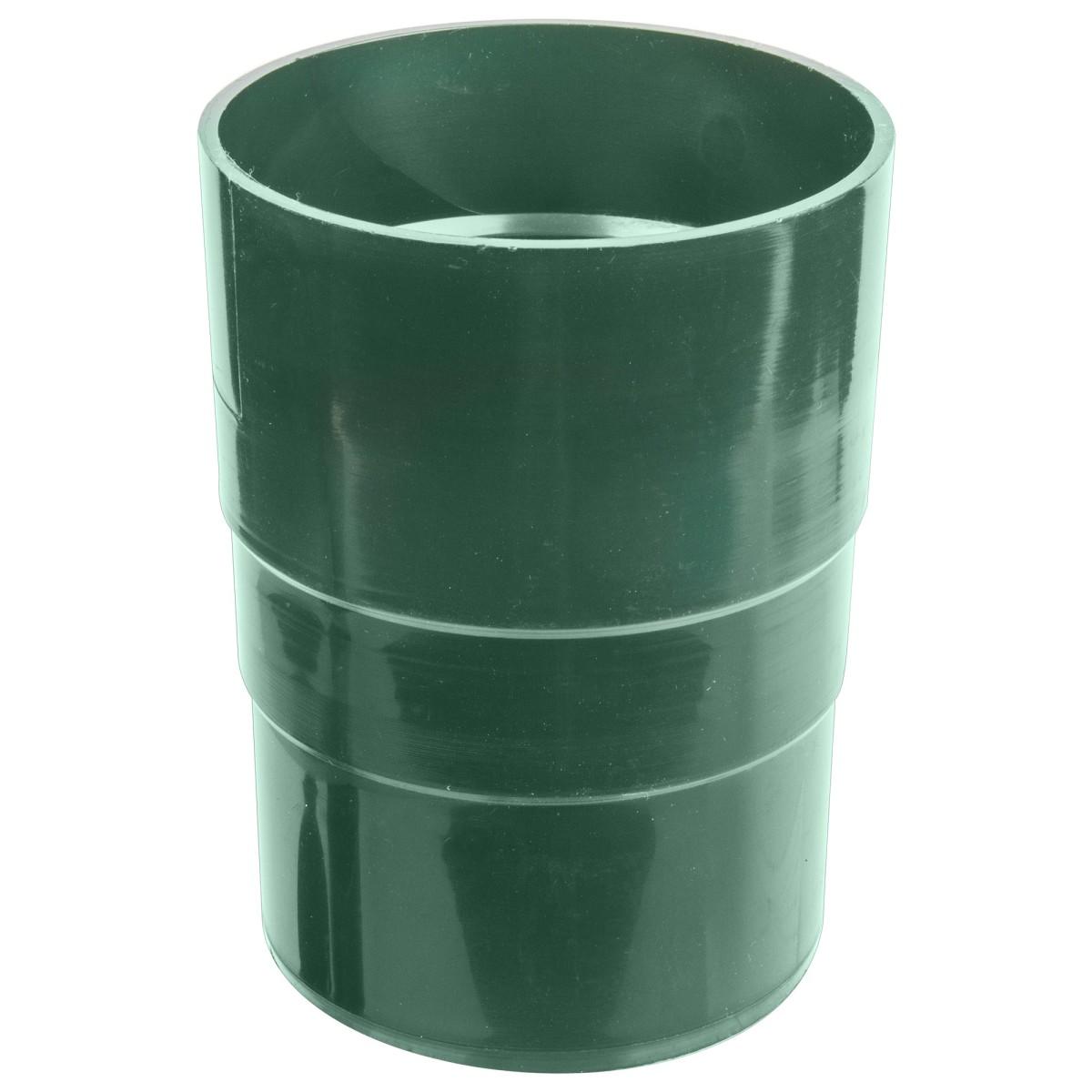 Муфта для водосточной трубы 82 мм цвет зеленый