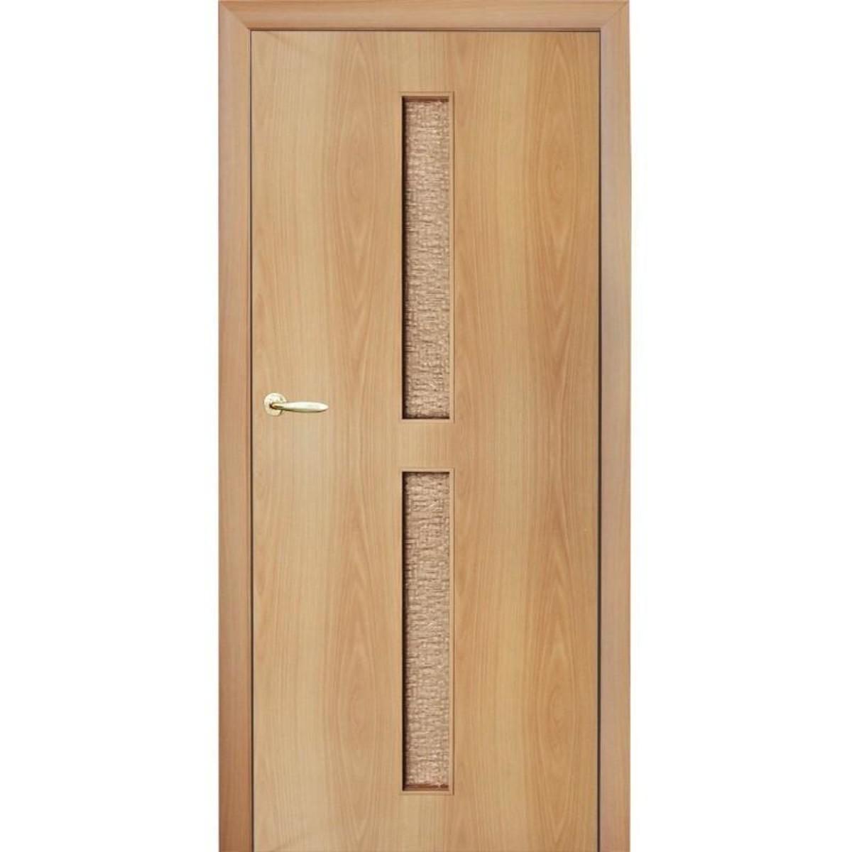 Дверь межкомнатная остеклённая Дуо 900x2000 мм ламинация миланский орех