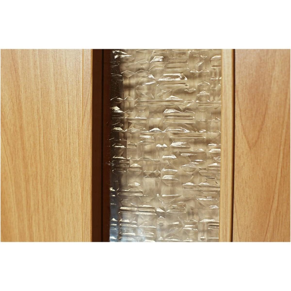 Дверь межкомнатная остеклённая Дуо 80x200 см ламинация цвет миланский орех