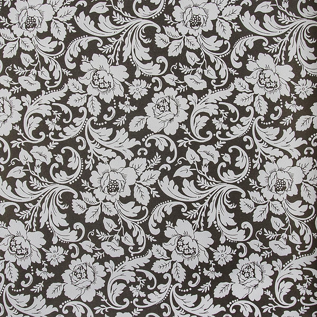 Обои на бумажной основе Вальс 0.53х10 м цвет черный Эл 19217
