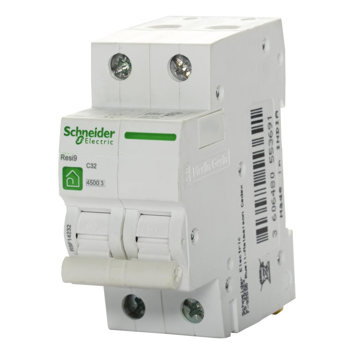 Выключатель автоматический Schneider Electric Resi9 2 полюса 32 A