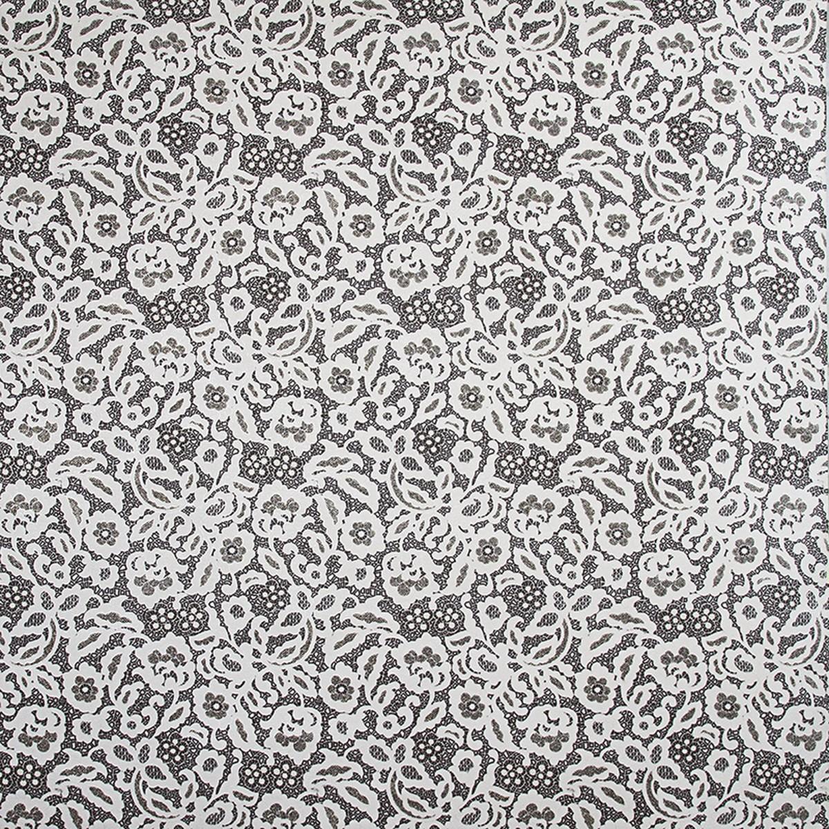 Обои флизелиновые 1.06х10 м кружево цвет черно-белый ER 3592-13