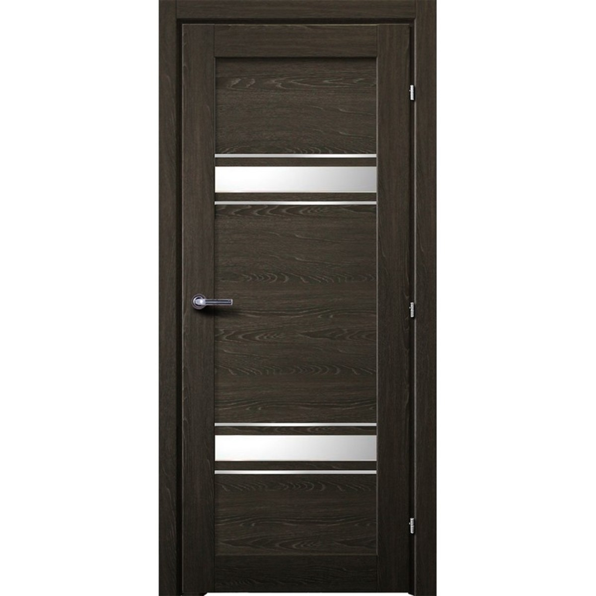 Дверь Межкомнатная Остеклённая Арден 70x200 Cpl Цвет Графит С Фурнитурой