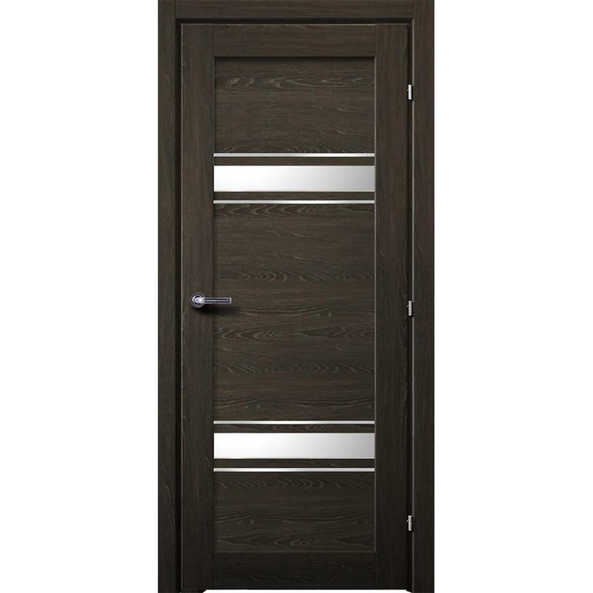 Дверь Межкомнатная Остеклённая Арден 90x200 Cpl Цвет Графит С Фурнитурой