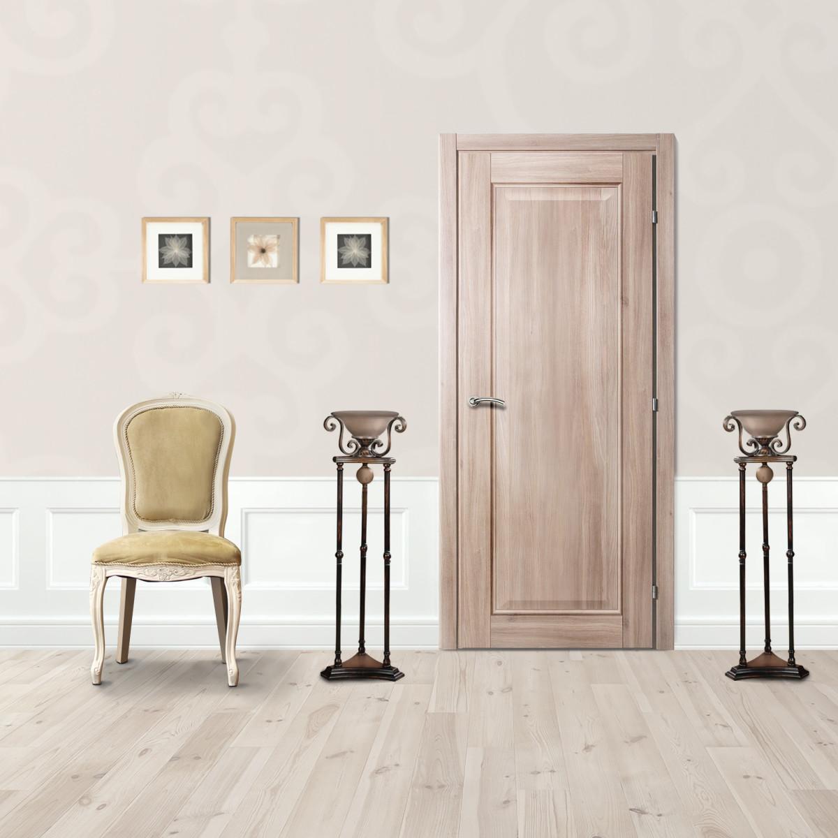 Дверь Межкомнатная Глухая Виктория 60x200 Cpl Цвет Акация С Фурнитурой