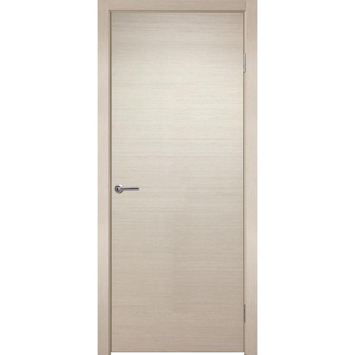 Дверь Межкомнатная Глухая Шарлотт 90x200 Шпон Цвет Дуб Белёный