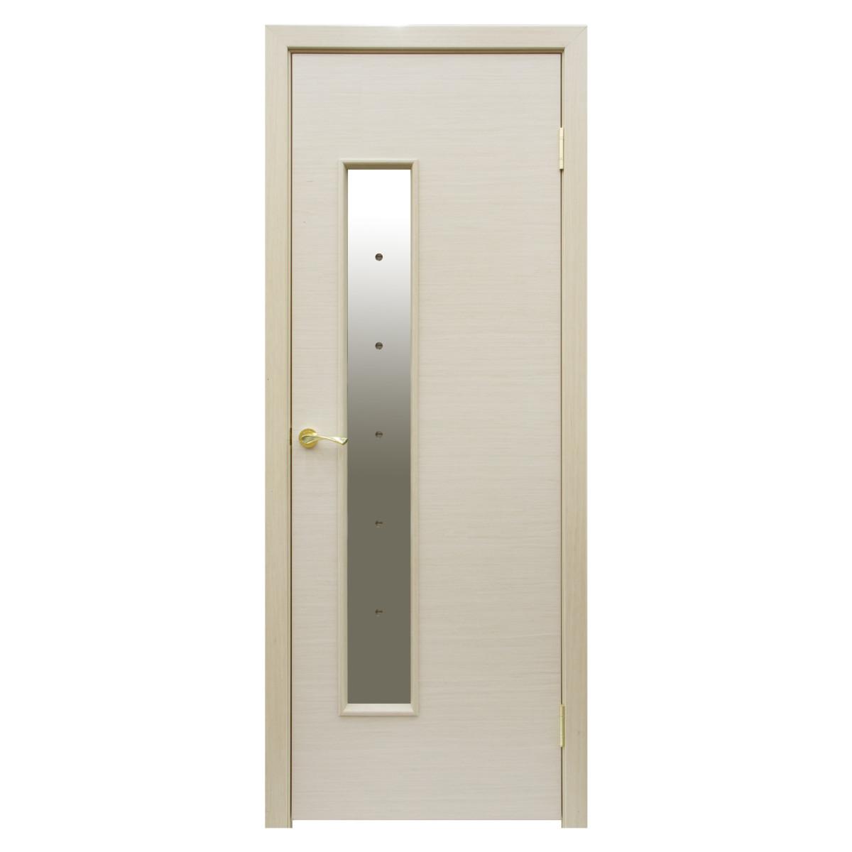 Дверь Межкомнатная Остеклённая Шарлотт 60x200 Шпон Цвет Дуб Белёный