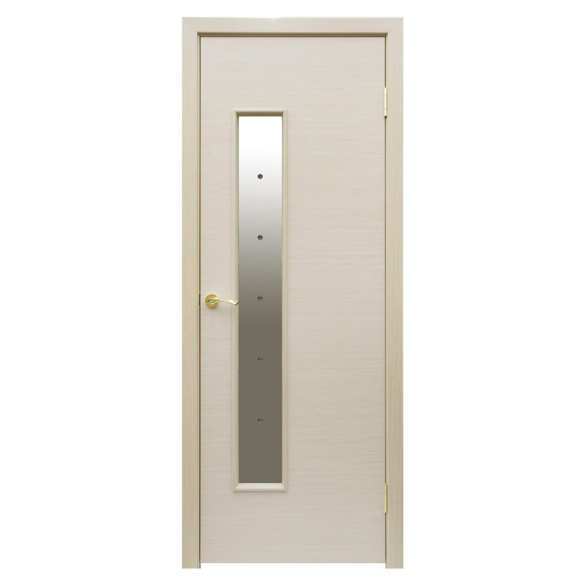 Дверь межкомнатная остеклённая Шарлотт 80x200 см шпон цвет дуб белёный