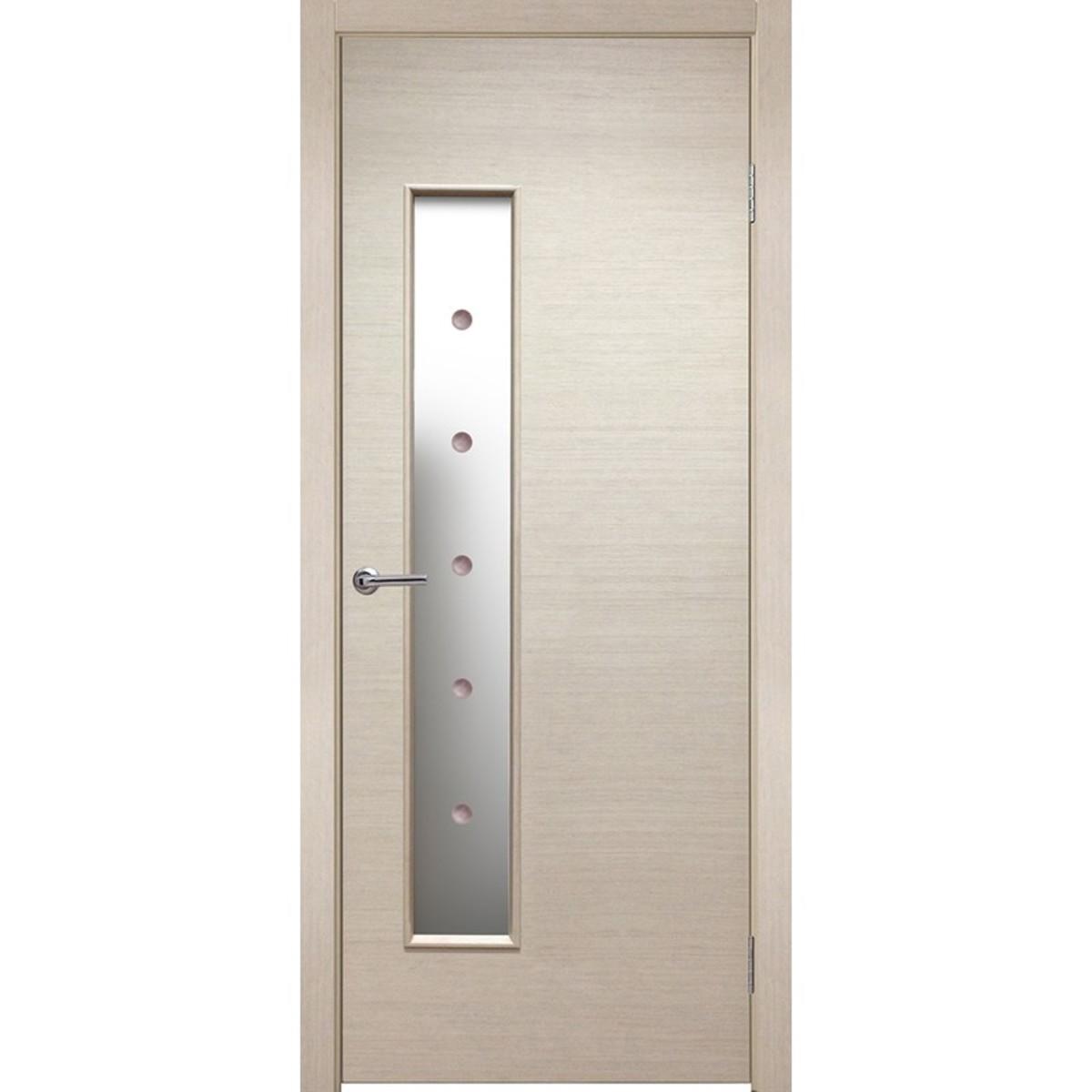 Дверь Межкомнатная Остеклённая Шарлотт 90x200 Шпон Цвет Дуб Белёный