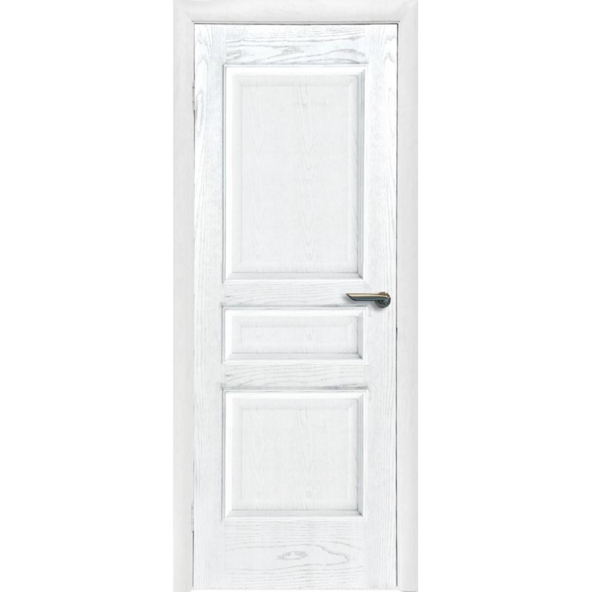Дверь Межкомнатная Глухая Корона 80x200 Шпон Цвет Ясень
