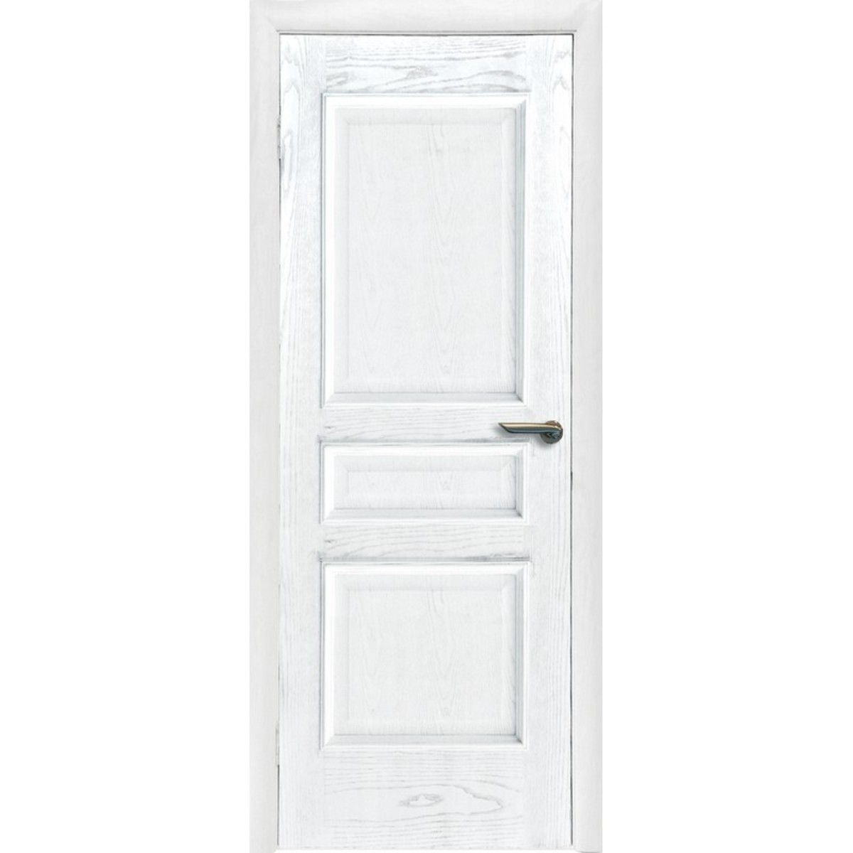 Дверь межкомнатная глухая Корона 90x200 см шпон цвет ясень