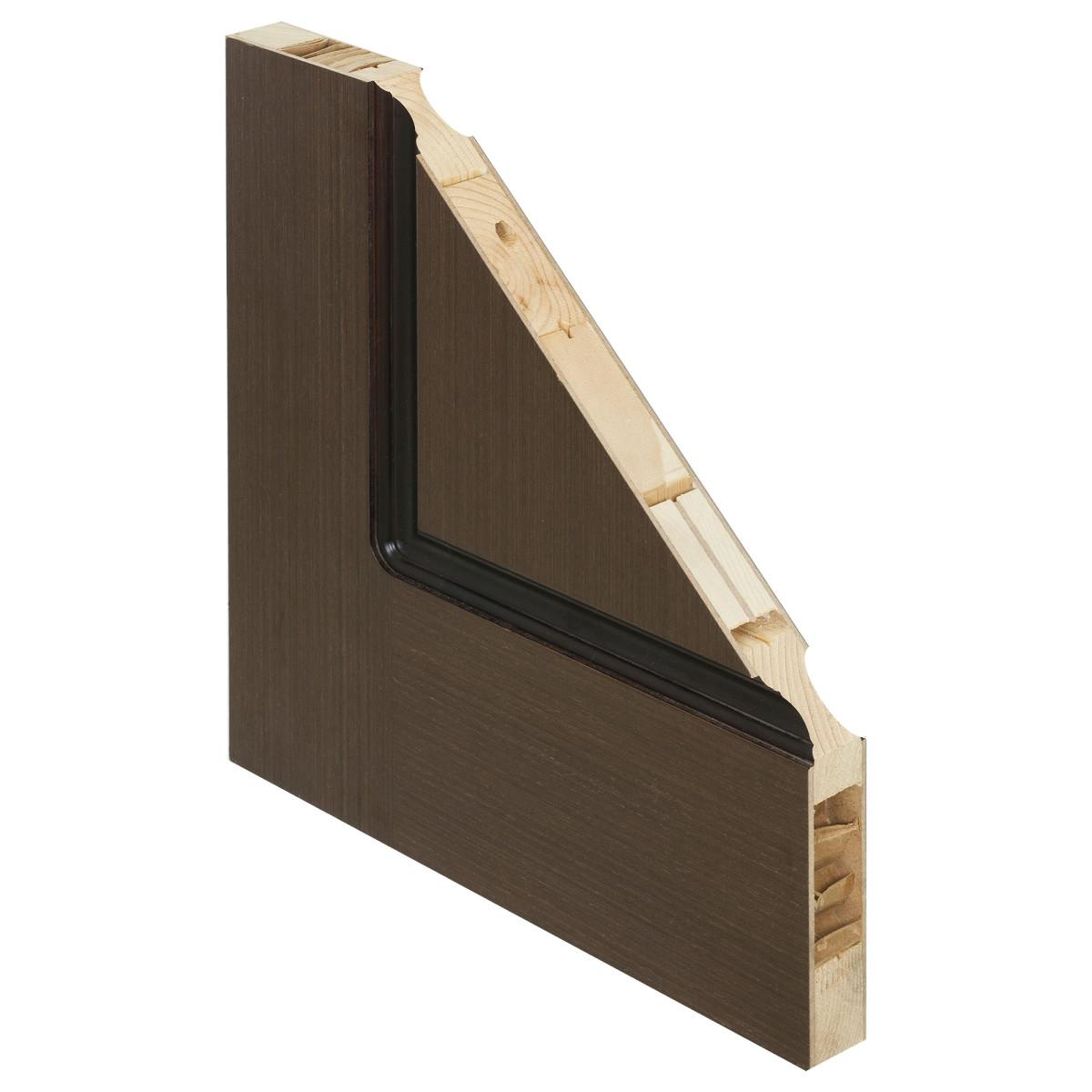 Дверь межкомнатная глухая Классика 80x200 см шпон венге